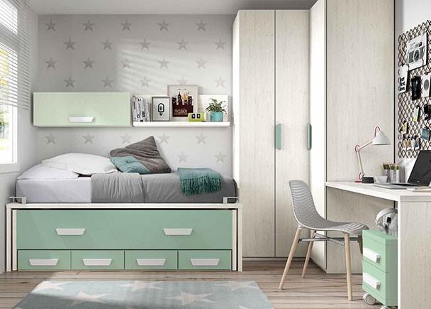 Habitacin infantil 303 692012 bed mattress sale for Cama compacta infantil