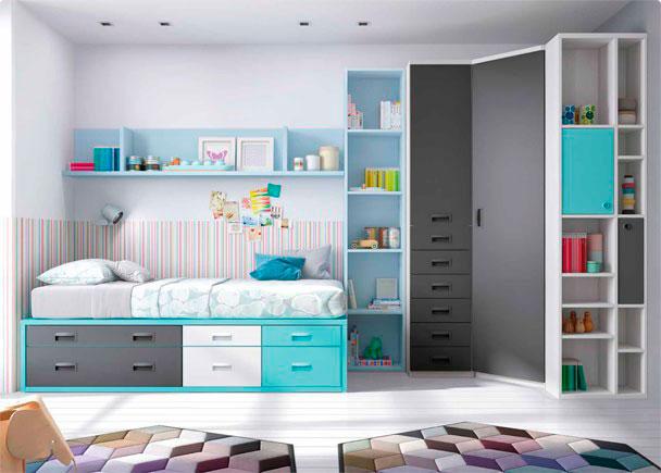 Compacto 8 cajones armario rinc n y sinfonier elmenut - Dormitorios juveniles tenerife ...
