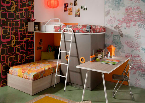 Dormitorio juvenil 150 14 - Dormitorios juveniles para poco espacio ...