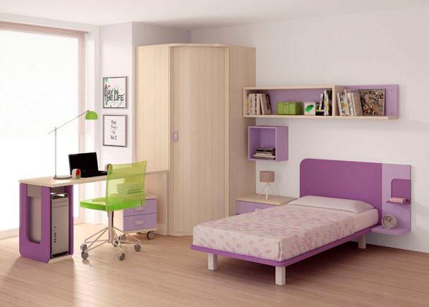 Dormitorio juvenil 004 752012 - Cama individual juvenil ...