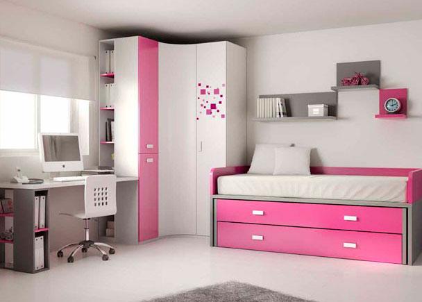 Dormitorio juvenil 303 372012 - Dessin muurschildering chambre fille ...