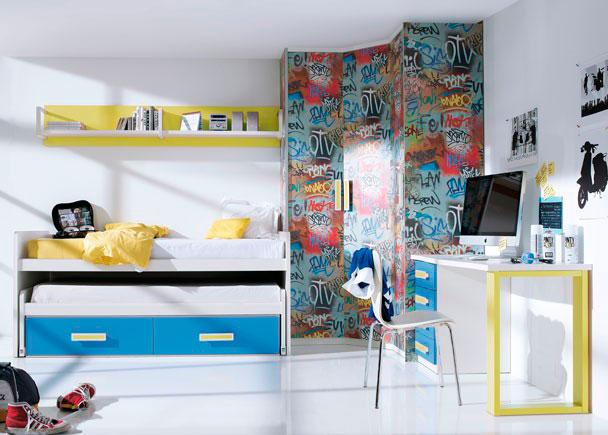 Graffitis para dormitorios juveniles - Habitaciones con graffitis ...