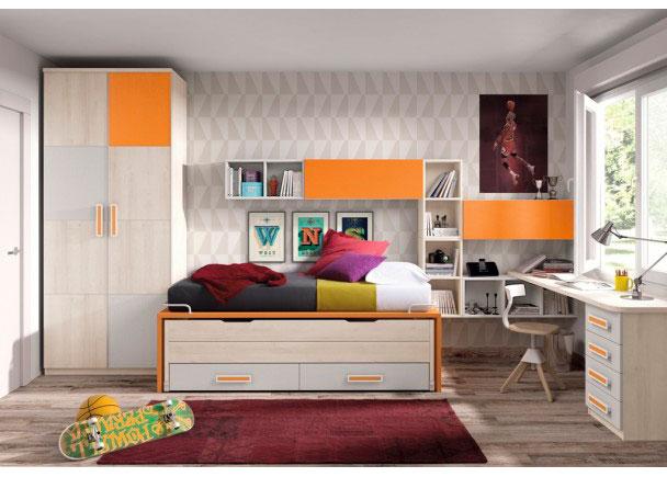 Dormitorio infantil 545 5932012 elmenut for Muebles juveniles cordoba