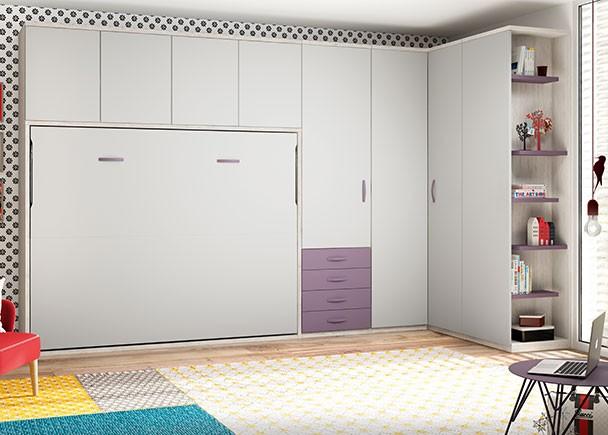 Habitaci n infantil con cama nido y armario rinc n elmenut for Armario habitacion infantil