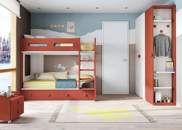 Habitaci n infantil con camas tipo tren elmenut - Cama tipo tren ...