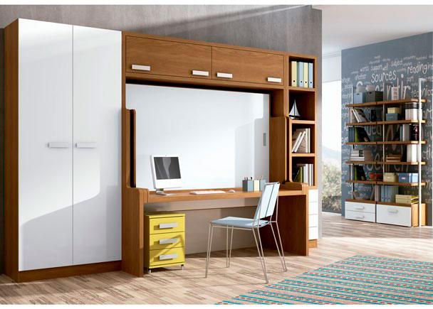 Habitaci n juvenil con cama mesa elmenut for Habitacion juvenil cama alta