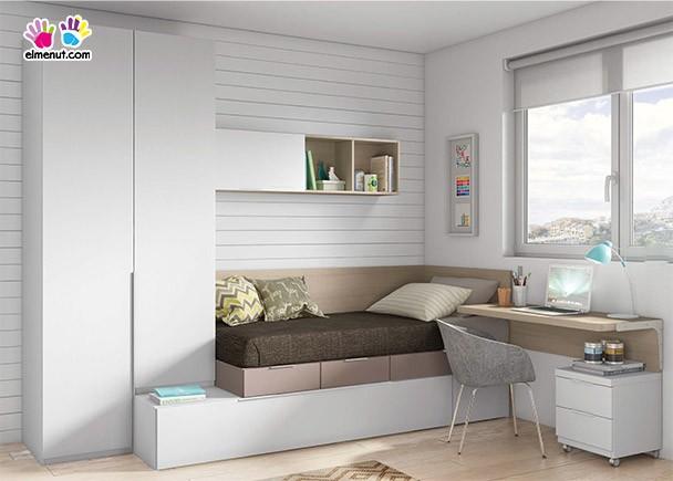 Dormitorio juvenil 601 332013 elmenut - Habitaciones camas abatibles ...