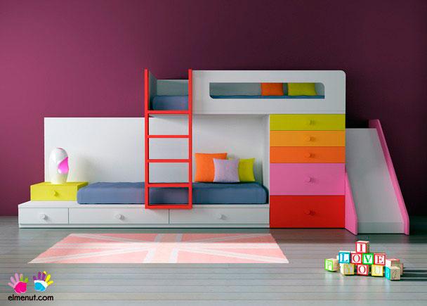 Habitaci n infantil 074 012 elmenut for Habitaciones con camas altas