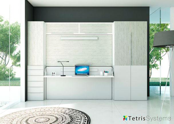 Dormitorio litera abatible altillos armarios y mesa elmenut - Altillos para armarios ...