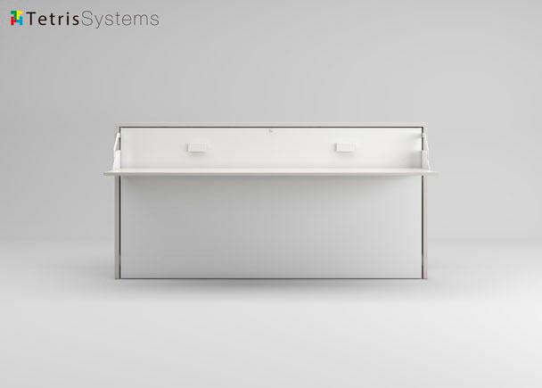 Cama abatible horizontal fondo 35 y escritorio elmenut - Cama escritorio abatible ...