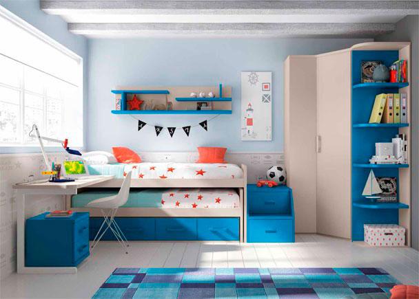Compacto y armario rinc n para habitaci n infantil elmenut for Armario habitacion infantil
