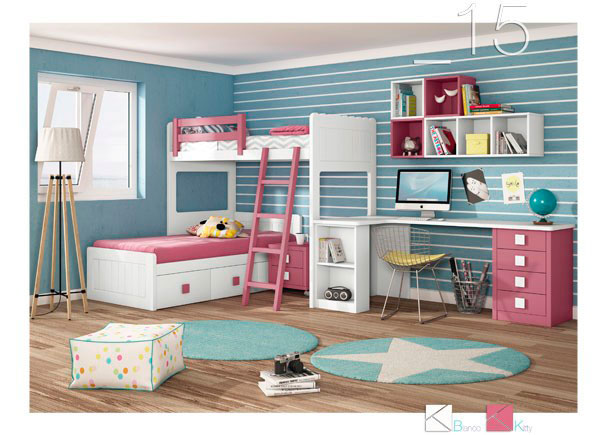 Habitaci n infantil con litera tren 589 152016 elmenut - Habitacion infantil tren ...