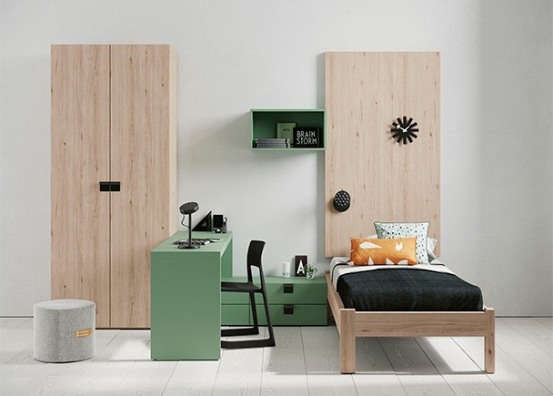 Habitaci n juvenil con dos camas nido elmenut for Habitacion con dos camas