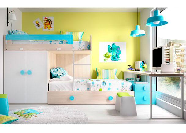 Habitaci n infantil con literas tipo tren elmenut - Habitaciones tipo tren ...