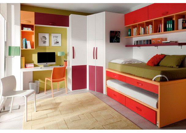 Dormitorio juvenil 079 0021 elmenut for Camas compactas desplazables