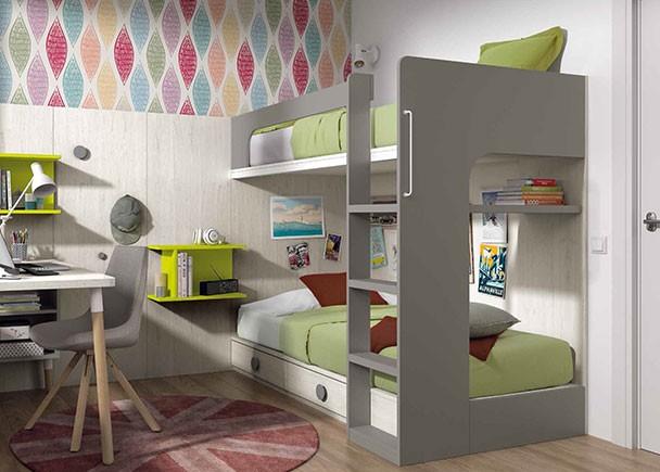 Habitaci n infantil con litera armario lur elmenut for Habitacion con litera