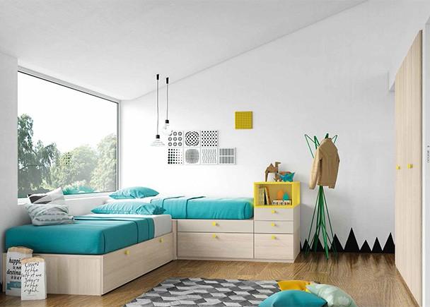 Habitacion infantil 002 39 elmenut - Habitaciones juveniles camas abatibles horizontales ...