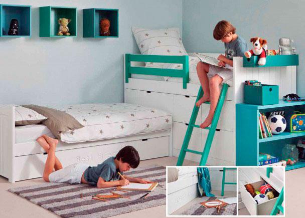 Habitaci n infantil para 3 ni os elmenut - Dormitorios juveniles tenerife ...