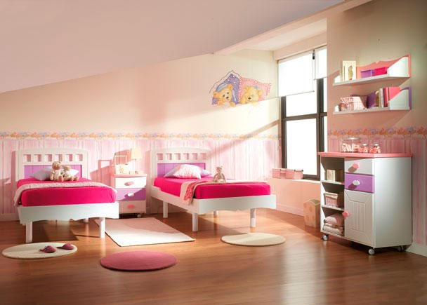Dormitorio 2 camas mesita c moda y estantes elmenut - Dormitorios 2 camas ...