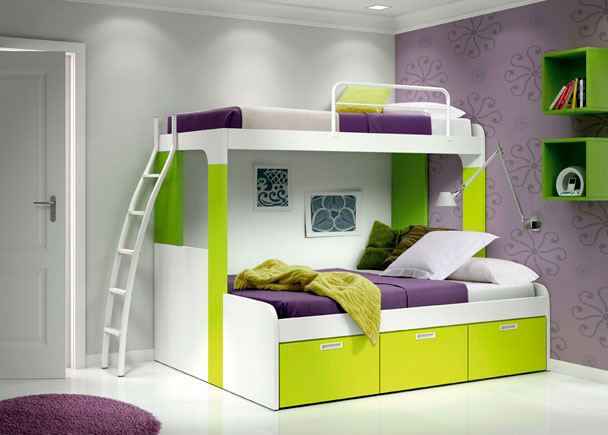 Dormitorio juvenil 528 762012 elmenut for Escaleras de literas