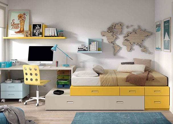 Habitaci n infantil con camas tipo tren armario elmenut for Habitaciones infantiles tipo tren