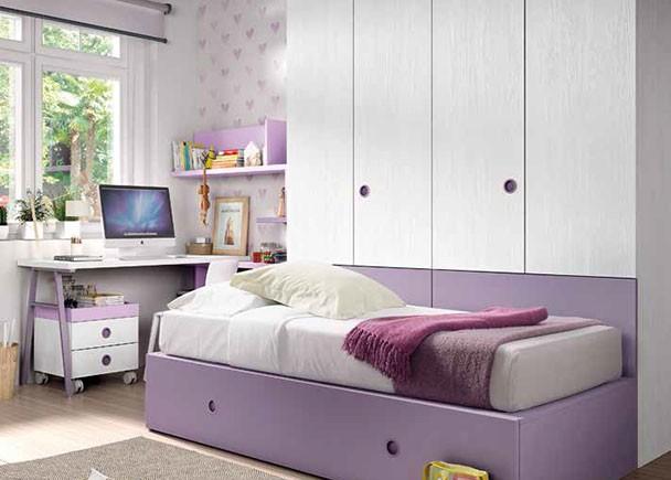 Habitaci n infantil con 2 camas tipo tren armario elmenut - Habitacion 2 camas ...