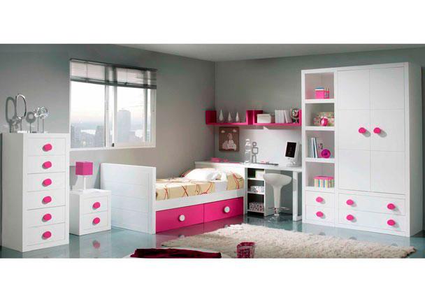 Habitaci n juvenil de estilo colonial con cama nido elmenut for Precios cama nido juvenil