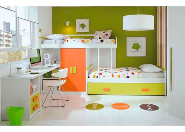 008 camas en tren con nido y mesa estudio bed mattress sale - Cama nido economica ...