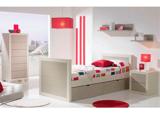 Dormitorio juvenil de estilo colonial con nido elmenut - Camas estilo colonial ...
