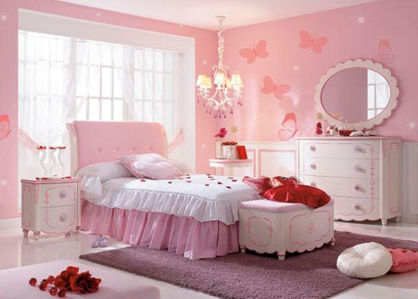 Dormitorio de princesa lacado en blanco 717 02 elmenut for Habitaciones juveniles en blanco