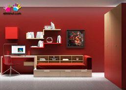 Habitación juvenil con equipamiento modular en