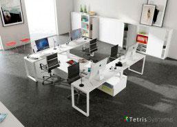 Despacho multi-office con 4 puestos de trabajo equipado con