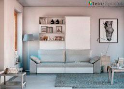 Salón con cama abatible Vertical de Matrimonio + Sofa + 2 P