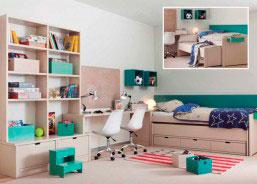 Habitación juvenil de alta calidad con nido móvil para col