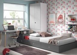 Habitación Juvenil con cama bloc compuesta un modulo