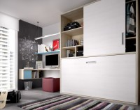 Habitaci�n infantil compuesta por un armario rinc�n vestidor totalmente equipado y con 5 opciones diferentes; mesa de estudio con bajo de cajones bicolor; compacto cama, 2 contenedores, hueco y cama nido; estantes y cubos a pared.