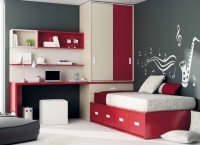 Dormitorio juvenil con cama nido de 90 x 190 con 4 cajones inferiores, arc&oacute;n recto apertura frontal, sobre recto de 250 x 58.2, armario sobre arc&oacute;n de 159.8 x 58, estanter&iacute;as de 147 con trasera larga y book de colgar sin puertas.