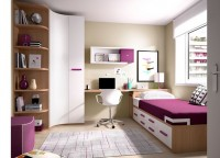 Completo dormitorio con litera de 2 camas y cajones contenedores + Armario de 2 puertas con cajones exteriores+ mesa de estudio .