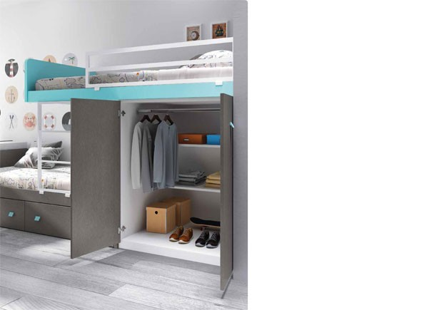 Dormitorio infantil camas tipo tren elmenut - Cama tipo tren ...
