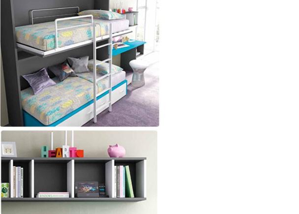 Cama abatible alta cama nido y escritorio elmenut - Cama nido alta con cajones ...