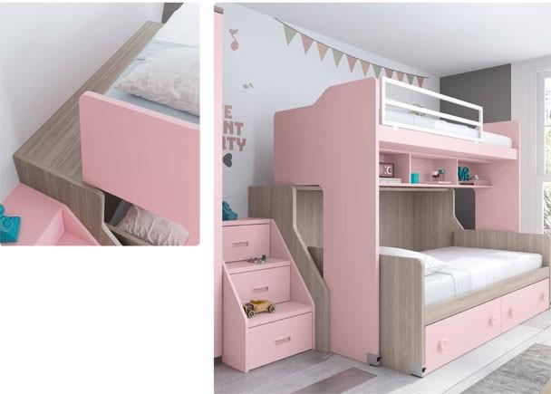 Habitaci n infantil con literas y armario elmenut for Armario habitacion infantil