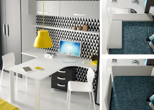 Abatibles y plegables cama doble abatible horizontal con altillo bed mattress sale - Muebles shena literas ...