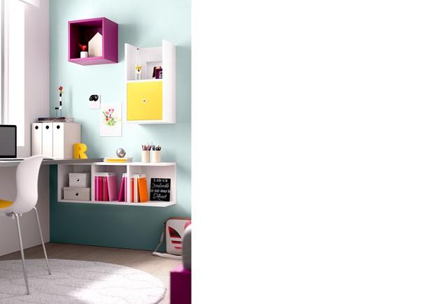Dormitorio juvenil con compacto for Dormitorios compactos