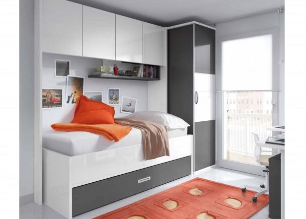 Dormitorio infantil 581 172013 elmenut - Habitaciones juveniles en gris y blanco ...