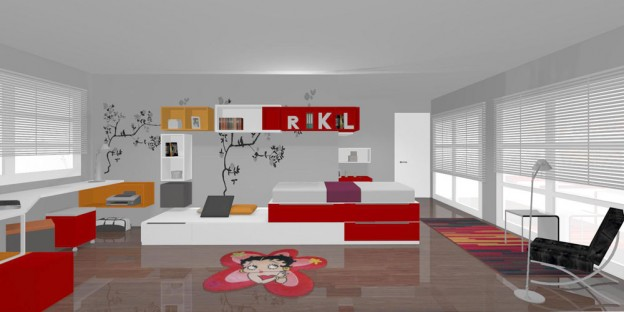 Ganadores concurso dise o de interiores 2012 muebles jjp - Diseno habitaciones juveniles ...