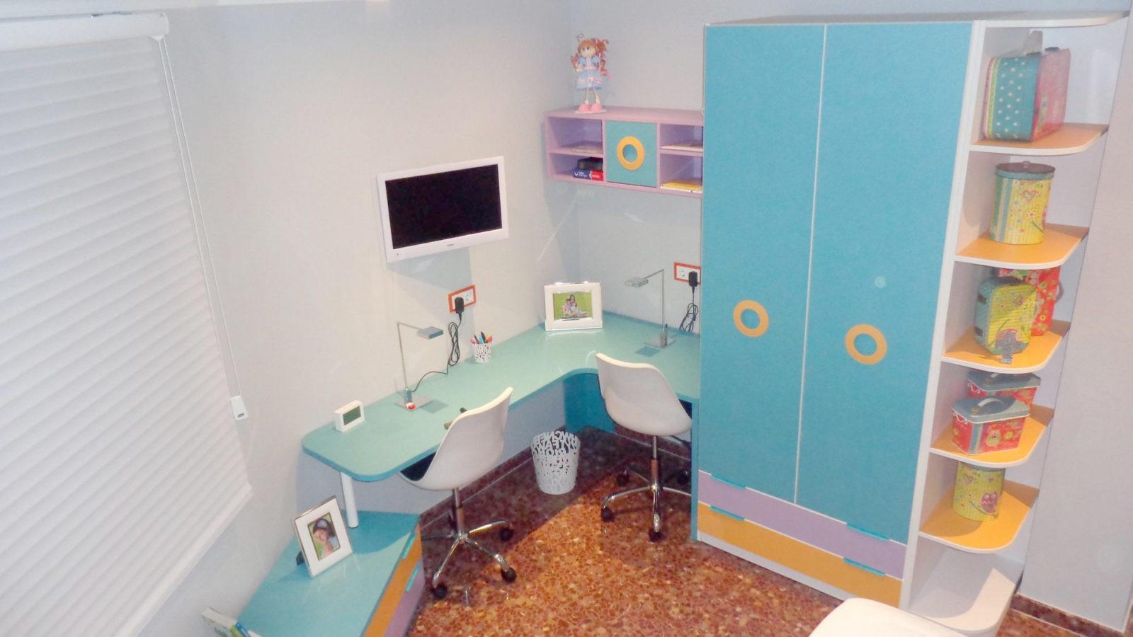 Habitaci n infantil para ni as de 6 y 10 a os elmenut for Decoracion de piezas