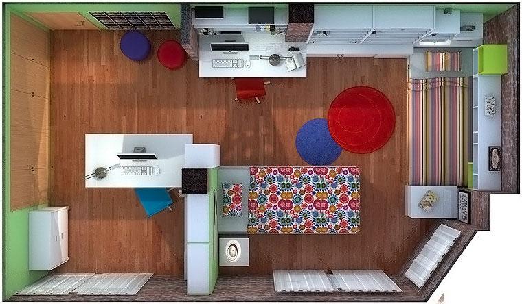 Proyecto dormitorio para 2 ni as de 7 y 11 a os elmenut for Habitaciones para ninas de 7 anos