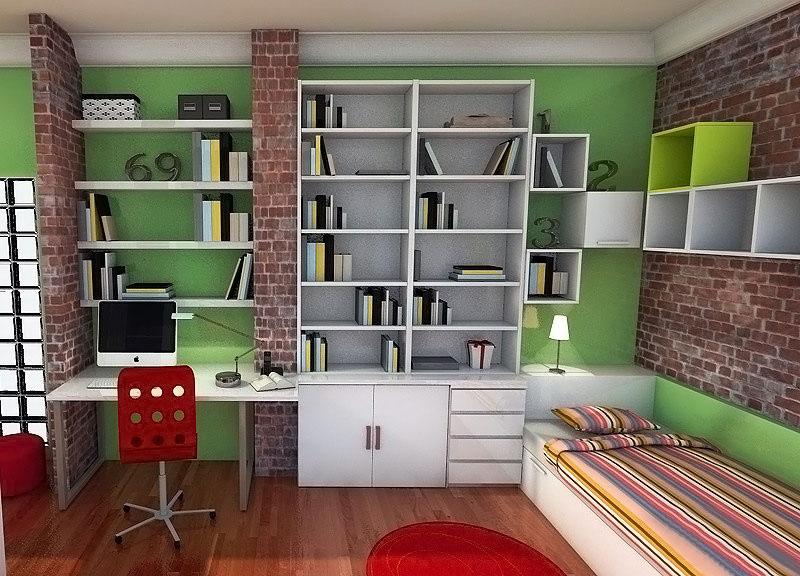Grandes librerías y estantes para gran cantidad de libros