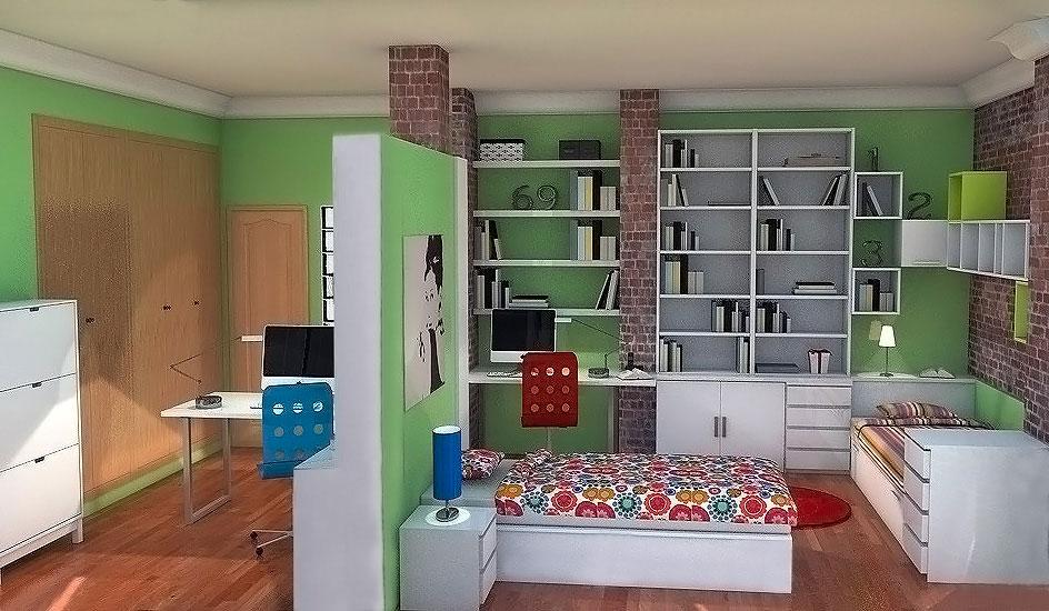Proyecto dormitorio para 2 ni as de 7 y 11 a os elmenut for Dormitorios para ninas 3 anos
