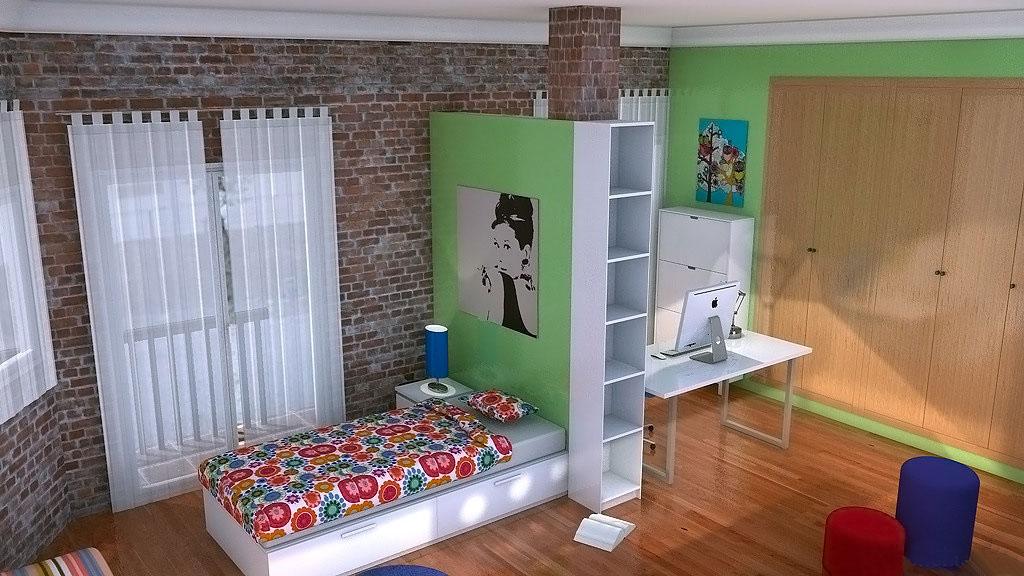 Proyecto dormitorio para 2 ni as de 7 y 11 a os elmenut - Habitacion nina 2 anos ...